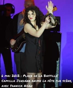 Camelia Jordana sur la scène de la Bastille fête la victoire du clown Bozo